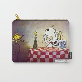 1980 Vintage Bon Voyage Charlie Brown, Woodstock, and Snoopy Lobby Card Poster Carry-All Pouch