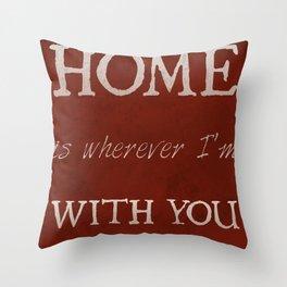 """Home"" Print Throw Pillow"
