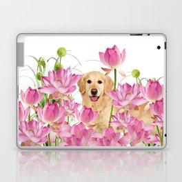 Labrador Retrievers with Lotos Flower Laptop & iPad Skin