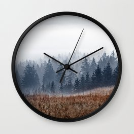 Lost In Fog Wall Clock