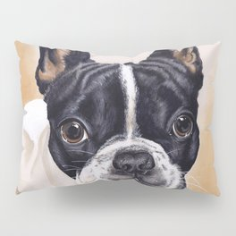French Bulldog Gouache Artwork Pillow Sham