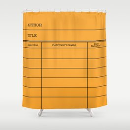 LiBRARY BOOK CARD (tang) Shower Curtain