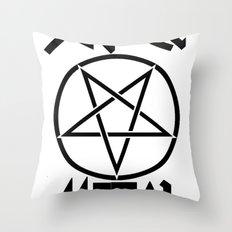 SLEAZE METAL Throw Pillow