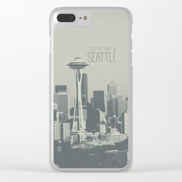 I LEFT MY HEART IN SEATTLE Clear iPhone Case