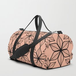 Living coral color that reminds of pretty broad leaves on tropical vacations. Duffle Bag