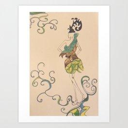 Fashion sketch 3. Summer fairy Art Print