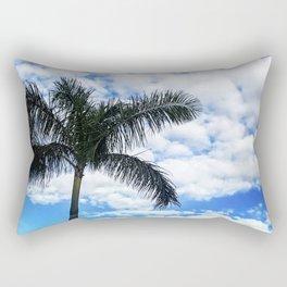 Blue Blue Palm Sky Rectangular Pillow