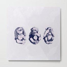 The Monkeys That Don't Speak or See Metal Print