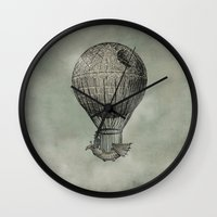 marianna Wall Clocks featuring Dark Voyage by Eric Fan