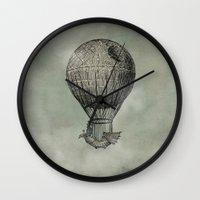 voyage Wall Clocks featuring Dark Voyage by Eric Fan