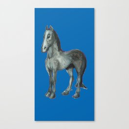 Noble Steed (blue) Canvas Print