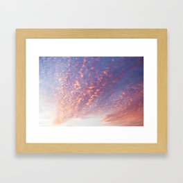 Sunset and Cotton Candy Framed Art Print