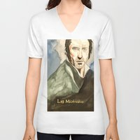 les mis V-neck T-shirts featuring Les Mis by Paxelart