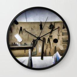 Carpenter woodworker Wall Clock
