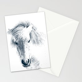 Cute Ponyface Stationery Cards