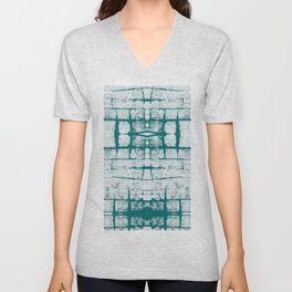 Faded Japanese Shibori Unisex V-Neck