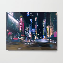 Neon Signs in New York, USA / Night City Series Metal Print
