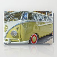 lime green iPad Cases featuring Lime Green Camper Van by Cornish Creations