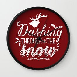 Dashing- Red Wall Clock