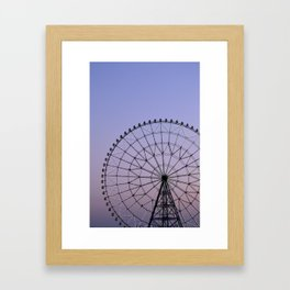 Ferris Wheel at Dusk Framed Art Print