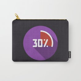 """Illustration """"percentage - 30%"""" with long shadow in new modern flat design Carry-All Pouch"""