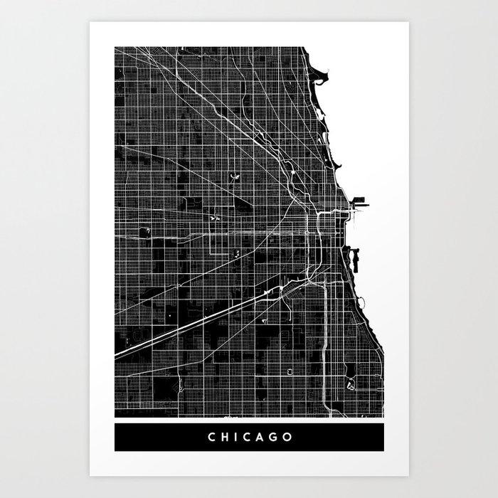 Map coordinates print VIntage map Chicago Illinois map Rustic Chicago Map Chicago map print Minimalistic map poster City maps artwork