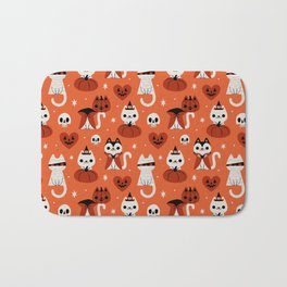 Halloween Kitties (Orange) Bath Mat