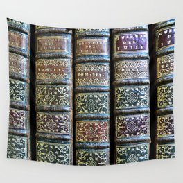Old Books Wall Tapestry