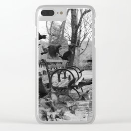 Central Park B/W Clear iPhone Case