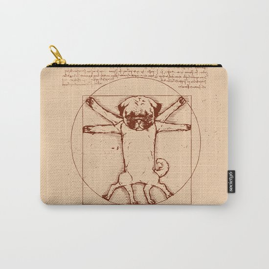 Vitruvian pug Carry-All Pouch