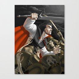 Vampire vs Skeletons Army Canvas Print