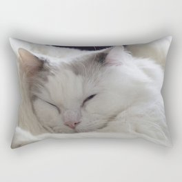 Ragdoll Cat Cuddles Rectangular Pillow
