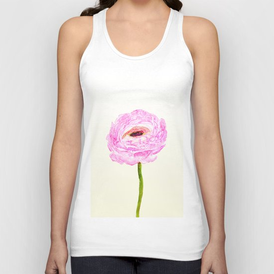 pink cultivited buttercup, Ranunculus Unisex Tank Top
