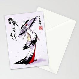 Grateful Crane by Nipponaisuki .....(Calligraphy)Hiroko Fukuda of Wakoshi Stationery Cards