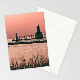Sunset Lighthouse Stationery Cards