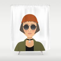 leon Shower Curtains featuring MATHILDA - LEON by Capitoni