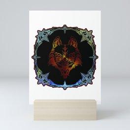 A Wolf Spirit Mirror Magic Miror Mini Art Print