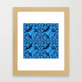 ORNATE  BLUE CRYSTAL GEMS PATTERN Framed Art Print