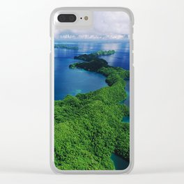 WOW!!! PALAU!! Tropical Island Hideaway Clear iPhone Case