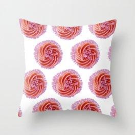 My little pink cupcake Throw Pillow