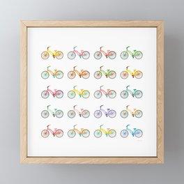 Colorful bikes Framed Mini Art Print