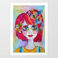 Miss Elm Art Print