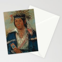 George Catlin - No English, a Dandy Stationery Cards