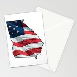 Patriotic Georgia Stationery Cards