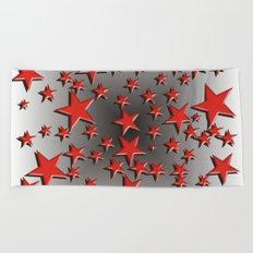 Red Stars Beach Towel