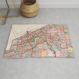 Vintage Map of Cleveland OH (1892) Rug