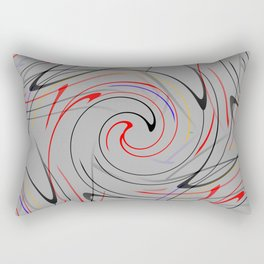 Abstract Action Rectangular Pillow