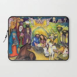 Peace on Earth Nativity Laptop Sleeve
