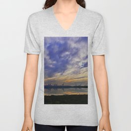 The Docks (Digital Art) Unisex V-Neck