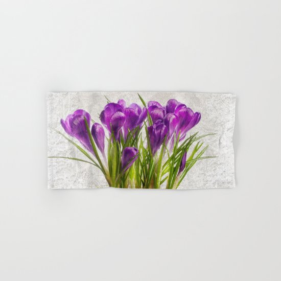 Spring purple flower Hand & Bath Towel